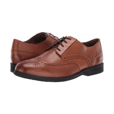 Hush Puppies ハッシュパピーズ メンズ 男性用 シューズ 靴 オックスフォード 紳士靴 通勤靴 Shepsky Wing Tip Oxford - Dark Tan Leather