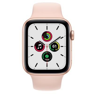 Apple Watch SE(GPSモデル)- 44mmゴールドアルミニウムケースとピンクサンドスポーツバンド [整備済製品] - FYDR2J/A