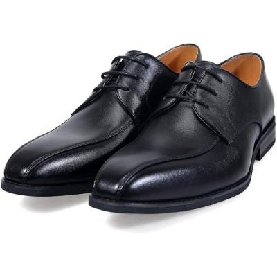 アラモーダ 日本製 ビジネスシューズ 本革 メンズ 革靴 紳士靴 外羽根ストレートライン 1262 ブラック 25.5cm