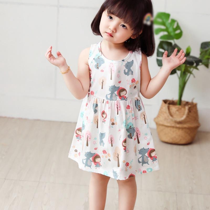 童裝寶寶夏季新品公主裙 女童可愛卡通印花連衣裙 小紅帽拼花洋氣裙子【IU貝嬰屋】