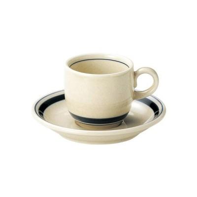 カネスズ Indigo Border インディゴ ボーダー コーヒー碗(WHITE STONE) のみ