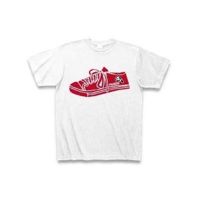 パンダスニーカー(赤) Tシャツ(ホワイト)