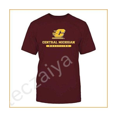 FanPrint Central Michigan Chippewas T-Shirt - School - Logo - Wrestling - Men's Tee/Maroon / 3XL 並行輸入品