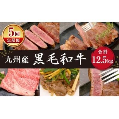 【定期便 5回】九州産 黒毛和牛 合計 12.5kg A4 A5 牛肉