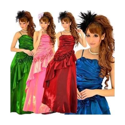 再入荷/ シャーリングシャンブレー姫ロングドレス/2次会ドレス/結婚式/社交ダンス/パーティードレス/姫ドレス/8439