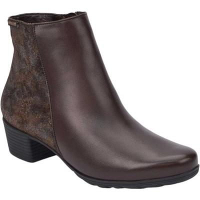 メフィスト ブーツ&レインブーツ シューズ レディース Ilsa Spark Ankle Boot (Women's) Dark Brown/Bronze Silk Smooth Leather