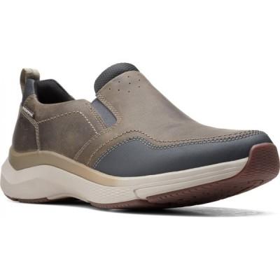 クラークス CLARKS メンズ スリッポン・フラット スニーカー シューズ・靴 Wave 2.0 Waterproof Slip-On Sneaker Sage Oily Tumbled Leather
