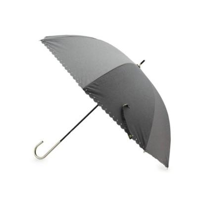 (grove/グローブ)スター型抜き晴雨兼用傘(長傘)/レディース ダークグレー(013)
