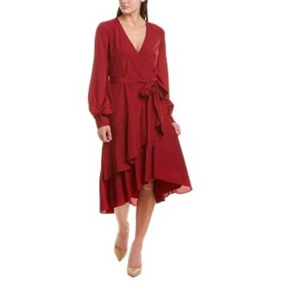バッジェリーミシュカ レディース ワンピース トップス Badgley Mischka Wrap Dress ruby
