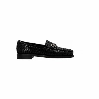 SEBAGO SPECIAL PROJECT Black   Bit croc' loafers  メンズ 春夏2021 781185W902 ju