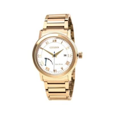 腕時計 シチズン Citizen AW7023-52A Gent's Power Reserve Rose Gold Steel Date Watch