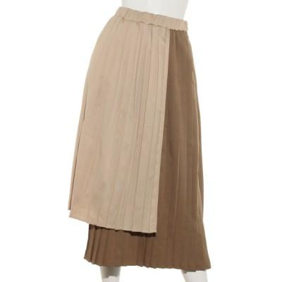 BARAK (バラク) レディース アシメレイヤードパターンスカート ベージュ フリー