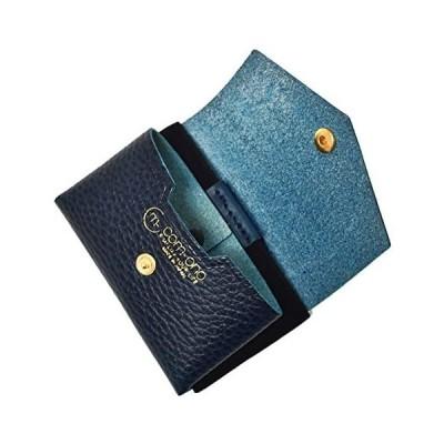 池之端銀革店 COM-ONO コンパクトミニ 財布 TINY SERIES 001(ブルー) 日本製 小銭入れ 財布革 (ブルー)