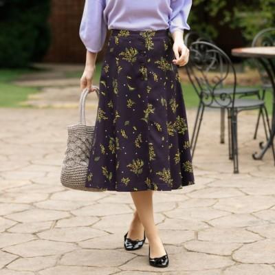 ミモザプリントスカート