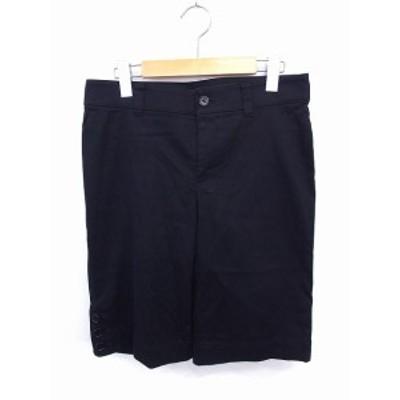 【中古】アンタイトル UNTITLED パンツ ショート ハーフ 無地 シンプル ジップ コットン 綿 2 ブラック 黒 /FT8 レディース