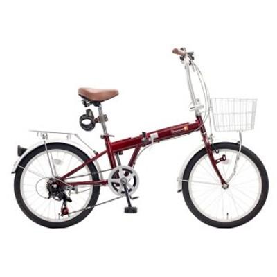 TOP ONE KGK206LL-34-RD レッド [折りたたみ自転車(20インチ・6段変速)] メーカー直送