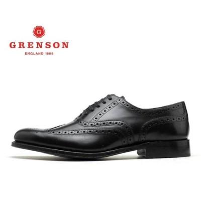 グレンソン 靴 GRENSON Dylan ディラン ウィングチップ 110013 BLACKメンズ ビジネス