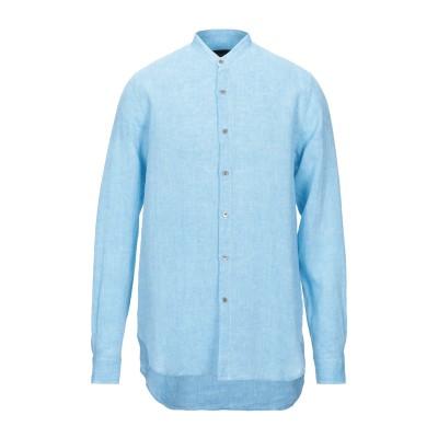 ジョルジオ アルマーニ GIORGIO ARMANI シャツ ターコイズブルー 45 リネン 100% シャツ
