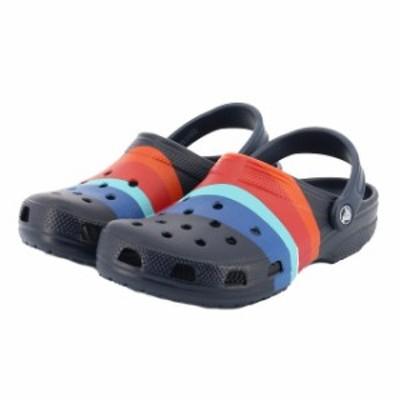 クロックス classic seasonal graphic clog (20570 4HQ) メンズ クロッグサンダル : ネイビー crocs
