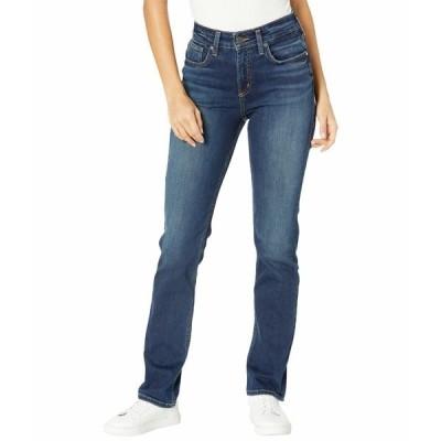 シルバージーンズ デニムパンツ ボトムス レディース Avery High-Rise Curvy Fit Straight Leg Jeans L94443EPX495 Indigo