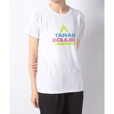 TARAS BOULBA(タラスブルバ) カラフルロゴTシャツ M . レディース TB-S19-014-021 WHT