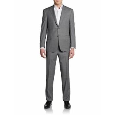 サックスフィフスアベニュー Men Clothing Classic-Fit Woven Wool Suit