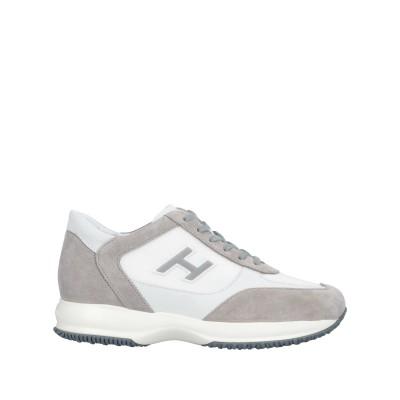 ホーガン HOGAN スニーカー&テニスシューズ(ローカット) ライトグレー 9.5 100% 革 紡績繊維 スニーカー&テニスシューズ(ローカット)