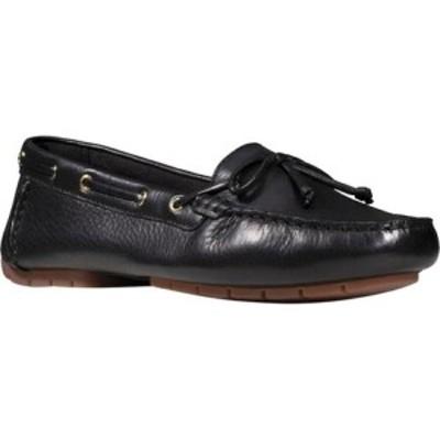 クラークス Clarks レディース スリッポン・フラット デッキシューズ シューズ・靴 C Mocc Boat Shoe Black Full Grain Leather