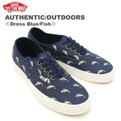 バンズ(VANS) オーセンティック/アウトドア(AUTHENTIC/OUTDOORS)メンズ キャンバス スニーカー ≪Dress Blue/Fish≫[BB]