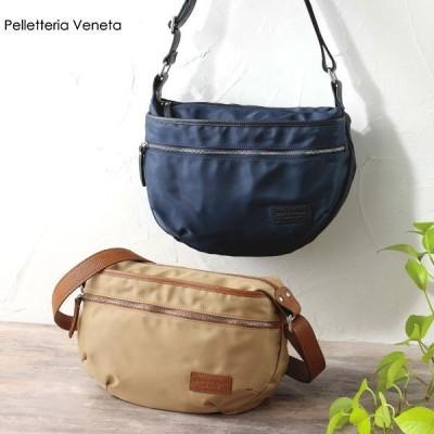 イタリア製ナイロンショルダーバッグ/本革 グレンフィールド