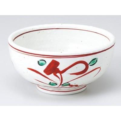 【和食器 小鉢】 赤絵手描花12.5cm多用鉢