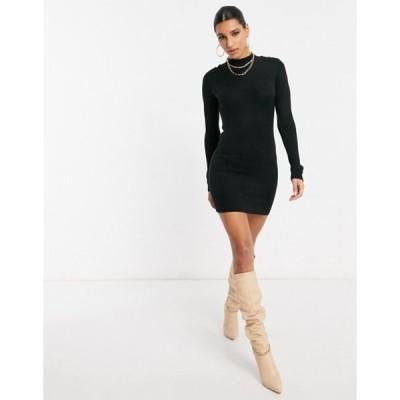 ブレーブソウル レディース ワンピース トップス Brave Soul military sweater dress in black