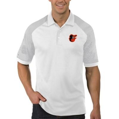 ボルチモア・オリオールズ Antigua Engage ポロシャツ - White/Gray