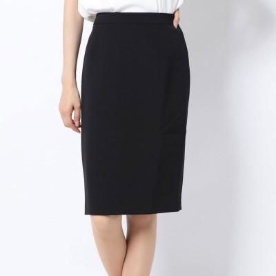 ラナン Ranan 洗えるストレートスカート (ブラック)