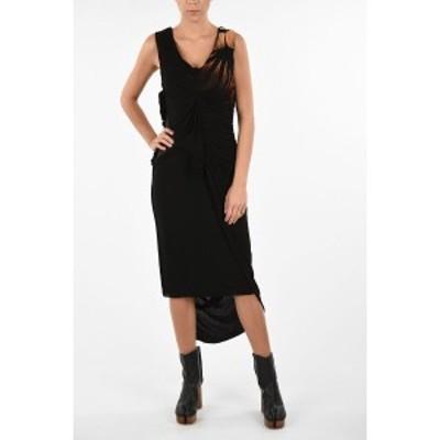 MAISON MARGIELA/メゾン マルジェラ Black レディース MM0 Draped Below Knee Asymmetric Dress dk