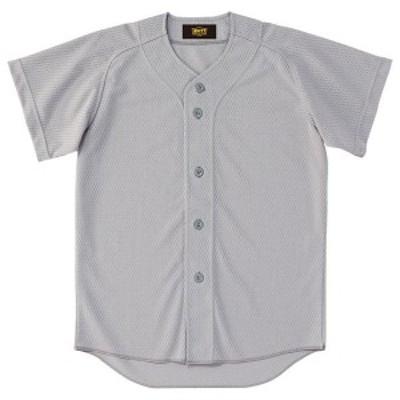 ゼット 野球 ソフト 少年用ユニフォームシャツ 16SS シルバー ヤキュウユニホーム(bu2071-1300)