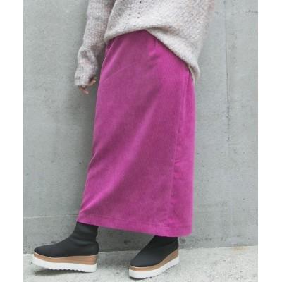 【ビッキー】 《手洗い可能》コール天ストレートスカート レディース ピンク S VICKY