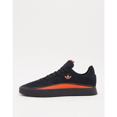 アディダス adidas Originals メンズ スニーカー シューズ・靴 Sabalo trainers in black suede ブラック