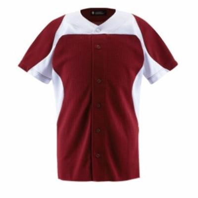 ユニフォームシャツ カラーコンビネーションシャツ(フルオープン) DB-1014【DESCENTE】デサントヤキュウソフトユニフォーム シャツ・M(DB