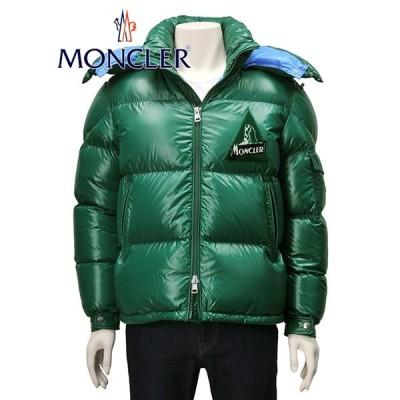 モンクレール MONCLER メンズ ダウンジャケット ラッカーナイロン 大きめ ヒマラヤ胸パイルワッペン ウイルソン フーデッド グリーン Men's