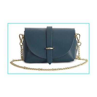【新品】LiaTalia Italian Leather Mini Small Micro Shoulder Cross body Evening Bag With Gold Coloured Metal Chain Strap - CORIN [Deep Teal](並