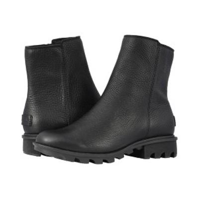 ソレル レディース ブーツ&レインブーツ シューズ Phoenix Zip Black Full Grain Leather