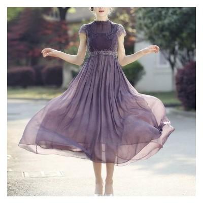 結婚式ドレス お呼ばれ ドレス ワンピース 30代 20代 パーティードレス 結婚式 二次会 ワンピース フレアワンピース ミモレ丈 aライン ワンピース jm5288