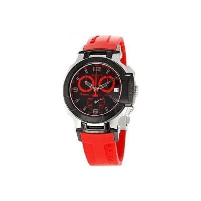 ティソ T-Race T048 クロノグラフ タキメーター スイス メイド Bold レッド メンズ 腕時計