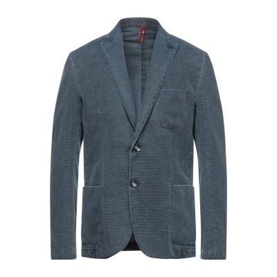 MARTIN ZELO テーラードジャケット ブルー 56 コットン 70% / リネン 30% テーラードジャケット