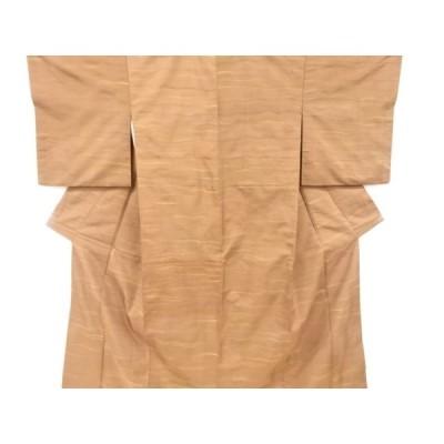 リサイクル 変わり横段模様織り出し手織り節紬着物