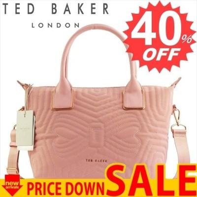 テッドベーカー バッグ トートバッグ TED BAKER CARISEE 146177 QUILTED BOW SMALL NYLON TOTE 51 DUSKY PINK  100% POLYESTER  比較対照価格14,580 円