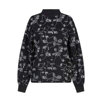 GESTUZ スウェットシャツ ブラック XS コットン 100% スウェットシャツ