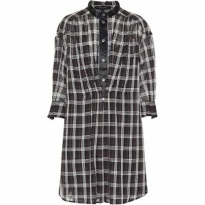 マーク ジェイコブス Marc Jacobs レディース ワンピース シャツワンピース ワンピース・ドレス checked cotton shirt dress Black/White