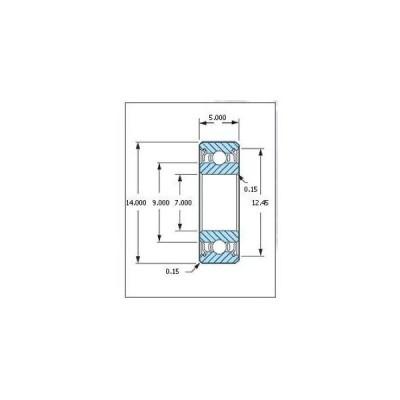 ミネベア ボール・ベアリング DDL-1470ZZ ステンレス 7x14x5mm